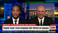 Shark Tank's Kevin O'Leary Announces Presidential Run CNN Fort Lauderdale Satellite Uplink Studio
